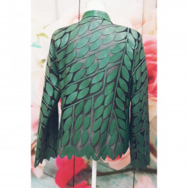 chaqueta  hojas